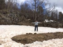Сколько должно быть снега?)