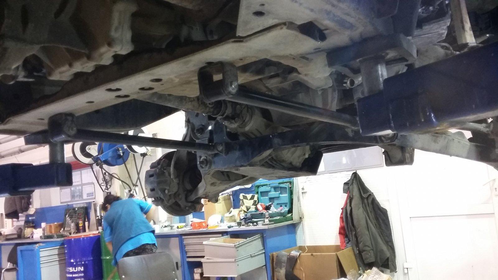 передняя подвеска с подрамниками fabtech